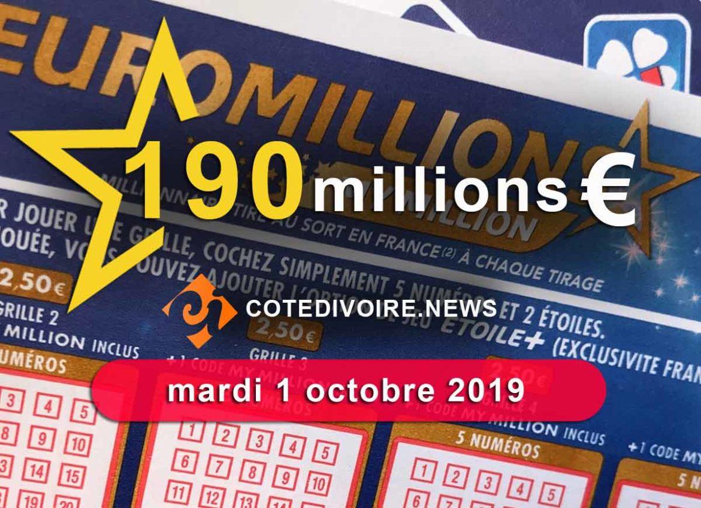 Cagnotte 190 million 1 octobre 2019