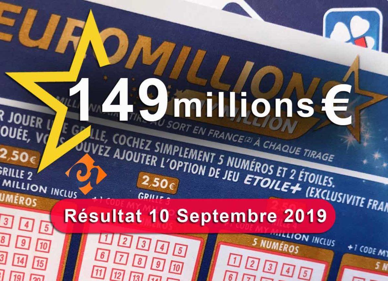 Cagnotte de 149 millions d'euro du 10-09-19