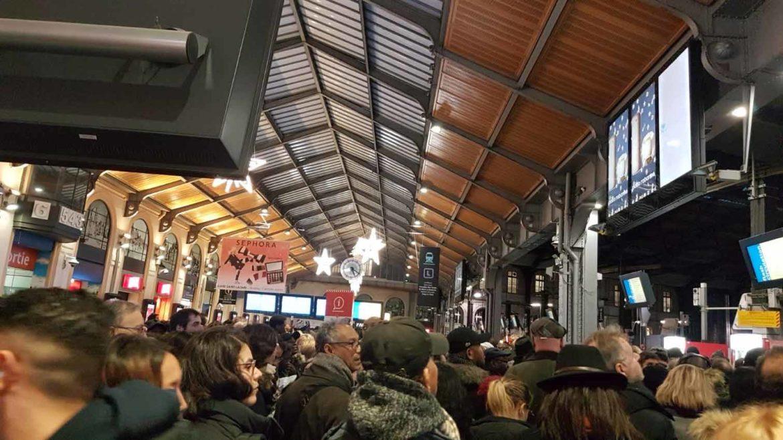 Gare St Lazare grève 2019