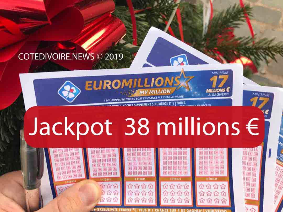 Jackpot 38 millions d'euros