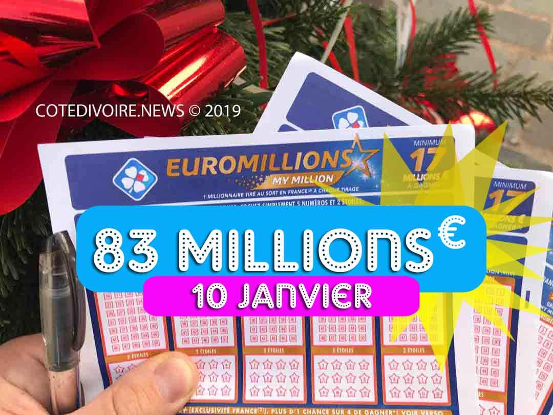 Tirage Euromillions 10 01 20
