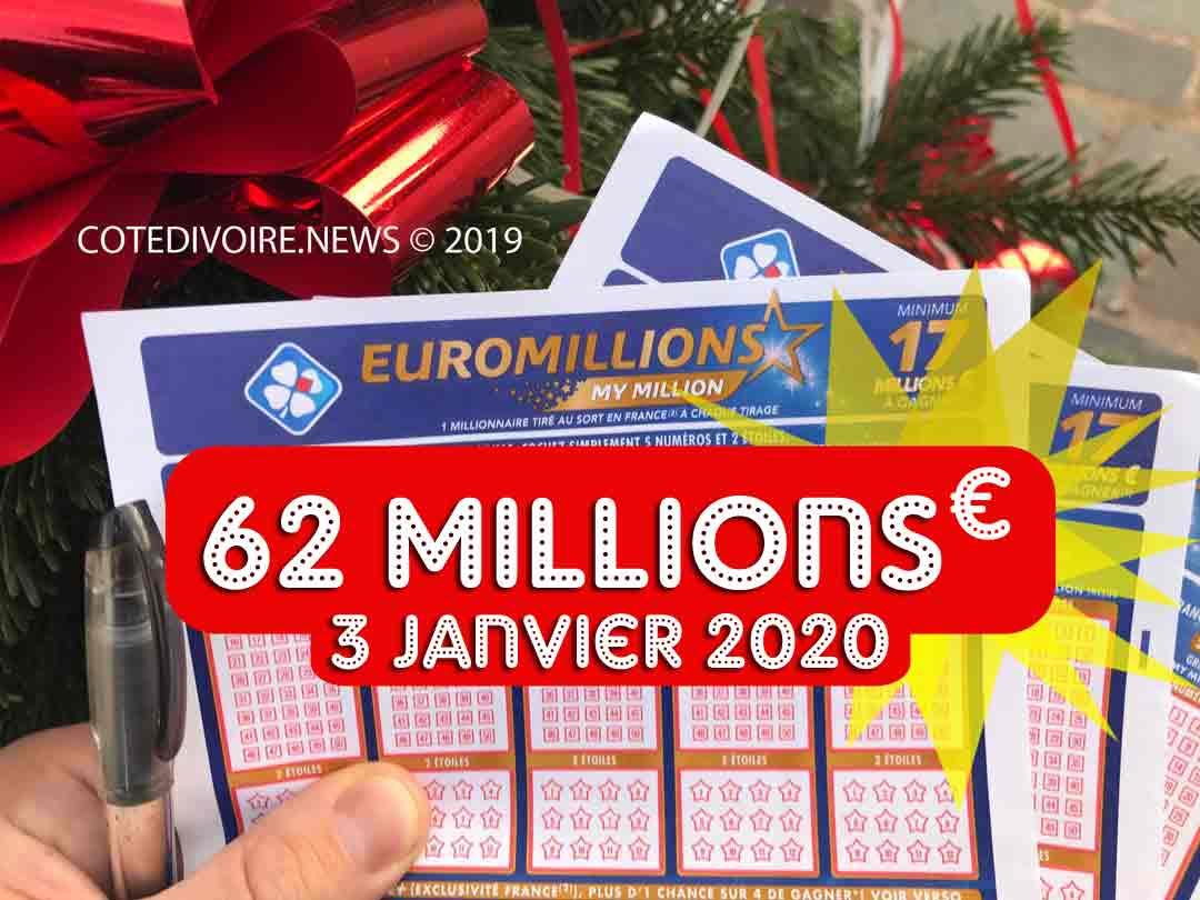 Cagnotte de 62 millions d'euro