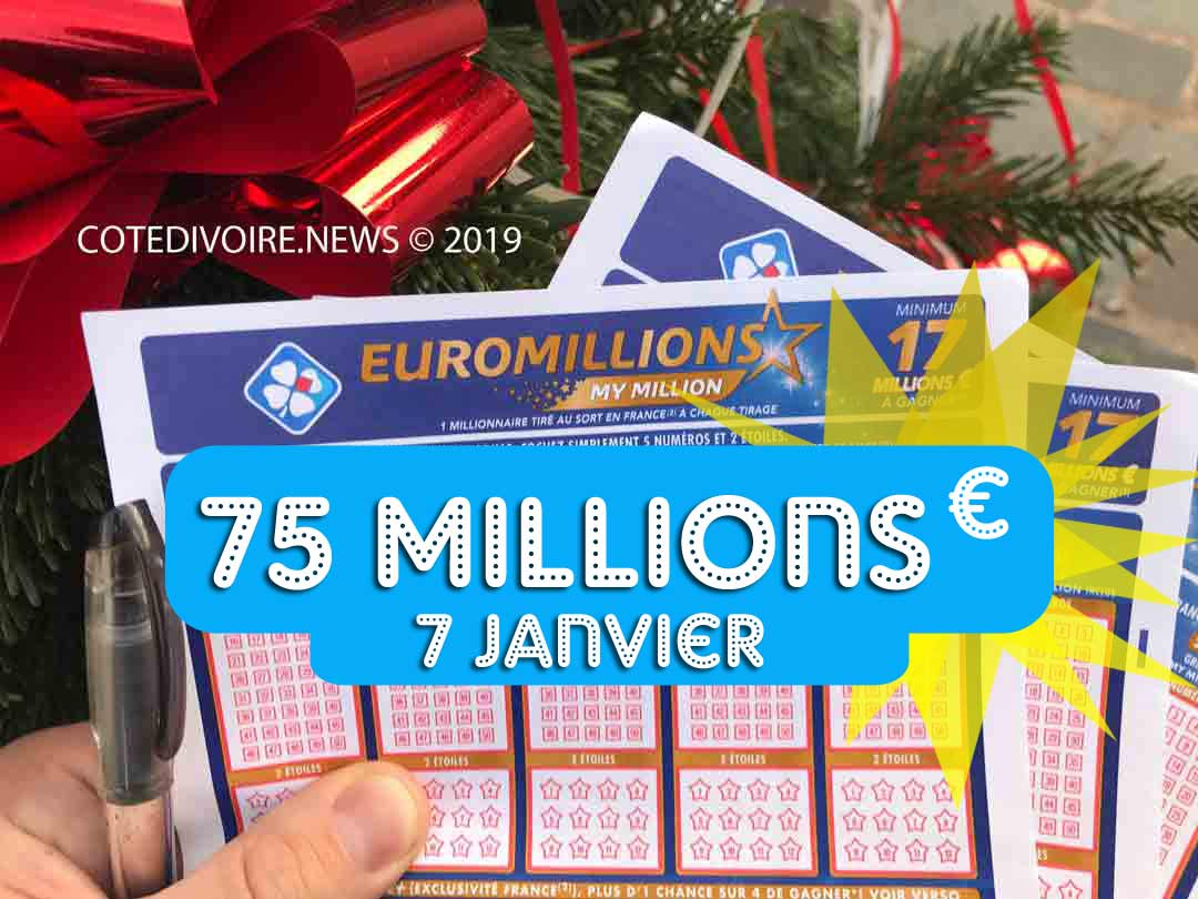 Euromillions mardi 7 1 2020